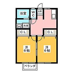 ヨシダハイツ[2階]の間取り