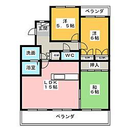 ラ・ファミーユII[1階]の間取り