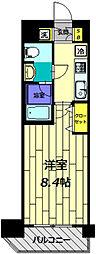 フェルクルールプレスト豊田 3階1Kの間取り