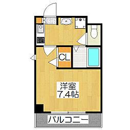 SHICATA DOUZE BLDG[802号室]の間取り