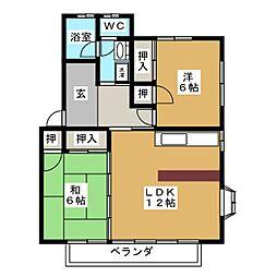 フローラルハイツIII[2階]の間取り