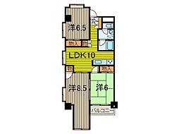 SKマンション12[3階]の間取り