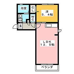 ラ・パルテール平井 六番館[2階]の間取り