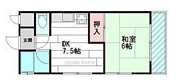 ナカノハイツ[2階]の間取り