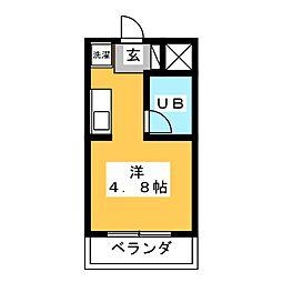 コンフォールまきの[4階]の間取り