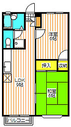シャルムセゾン[2階]の間取り