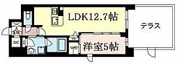 パスレージュ 4階1LDKの間取り