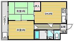 ローズマンション[302号室]の間取り
