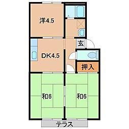 カーサりんかんI[1階]の間取り