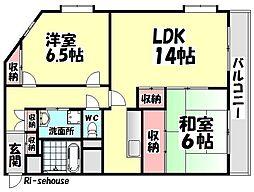 サンライフマンション[302号室]の間取り