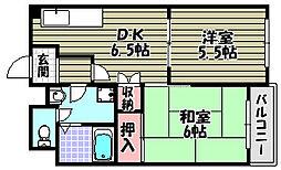 レジデンス幸裳苑[3階]の間取り