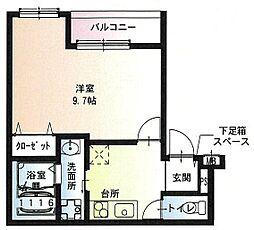 フジパレス尼崎ガーデン2番館 1階1Kの間取り