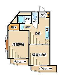荒井マンション[3階]の間取り
