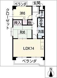 桜ハイツ平川[1階]の間取り