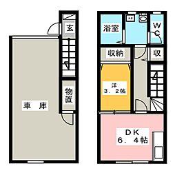 NAKAHARAVI[2階]の間取り
