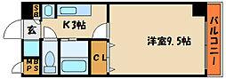 ラッフィナート有瀬[2階]の間取り