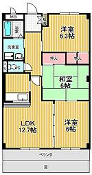 U・AVANCER[1階]の間取り