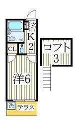 マリーエ[2階]の間取り