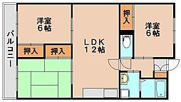 シーラ大野城[2階]の間取り