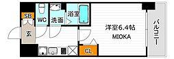 ララプレイス天王寺ルフレ 10階1Kの間取り