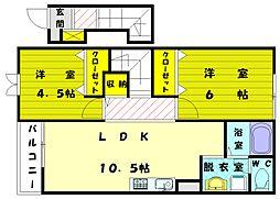 レジデンス大門[2階]の間取り
