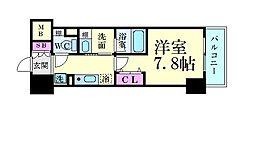 名古屋市営東山線 新栄町駅 徒歩8分の賃貸マンション 13階1Kの間取り