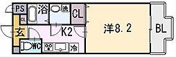 ルミエール八尾II[5階]の間取り