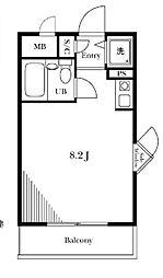 ハイネスプラザ新宿5[201号室]の間取り