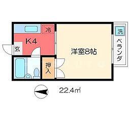丸北マンション[3階]の間取り