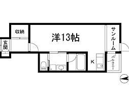 i-space WEST[1階]の間取り