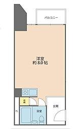 トーカン新宿キャステール[401号室]の間取り