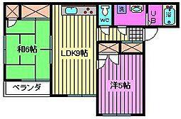 浦和西堀ハイム[2階]の間取り