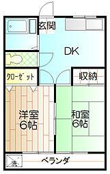 東豊ハイツ[307号室]の間取り