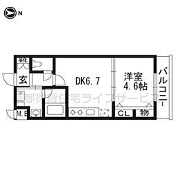 ベラジオ京都壬生WEST GATE304[3階]の間取り