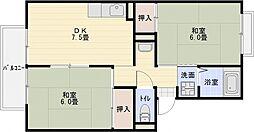 パルコート林1[2階]の間取り