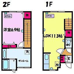 インサイド・テイル E棟[1階]の間取り
