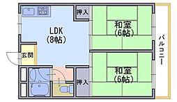 日野ハイツ[2階]の間取り