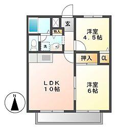 レッカK[1階]の間取り