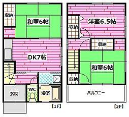 [一戸建] 広島県広島市安芸区矢野西3丁目 の賃貸【/】の間取り