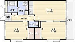 プリュクレール[2階]の間取り