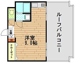 ヴァンクレールアキ[7階]の間取り