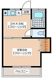 コア松原[205号室]の間取り