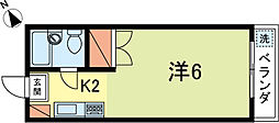 コーポ花[202号室]の間取り