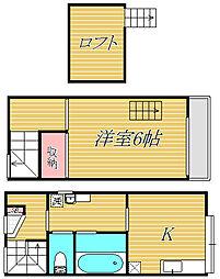 第2テラスハウスことぶき[1階]の間取り