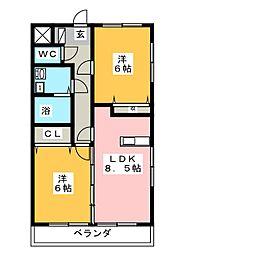スマイルN・S[2階]の間取り