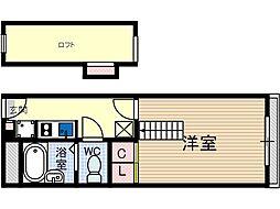 竹橋町マンション[2階]の間取り