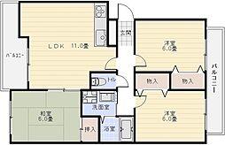 マンション矢作2[2階]の間取り
