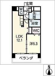 仮)津市南新町マンション[6階]の間取り