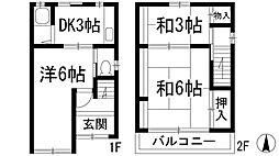 [テラスハウス] 大阪府池田市新町 の賃貸【/】の間取り