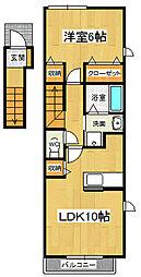 メゾンロアール3 A[2階]の間取り